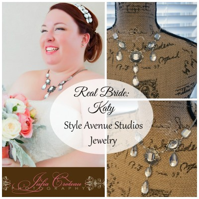Style Avenue Studios jewelry, real bride, bridal jewelry, reception necklace, statement necklace