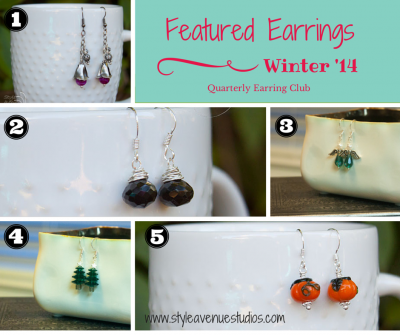 quarterly earring club, Style Avenue Studios, handmade earrings,