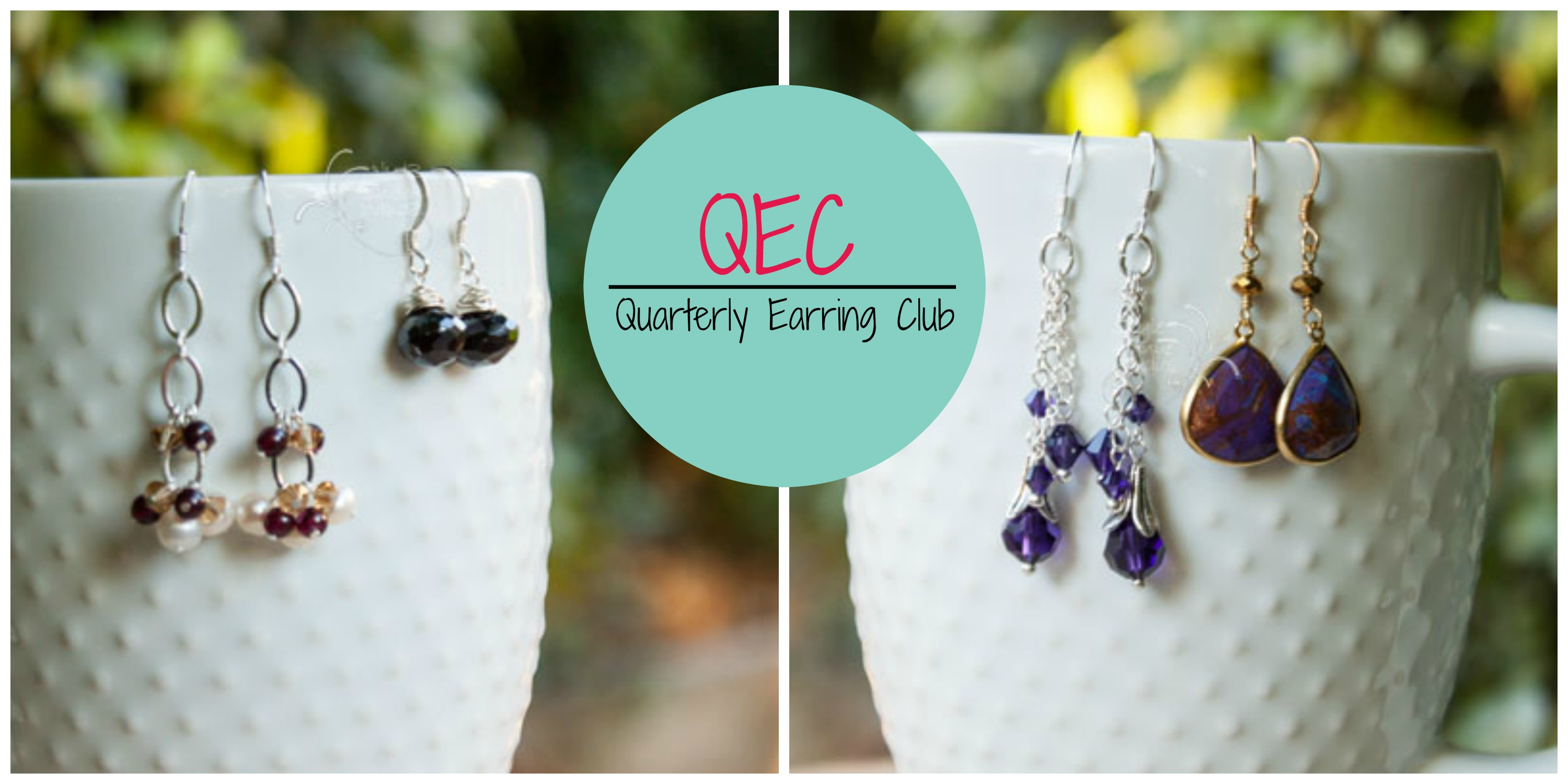 Quarterly Earring Club, handmade earrings, custom jewelry