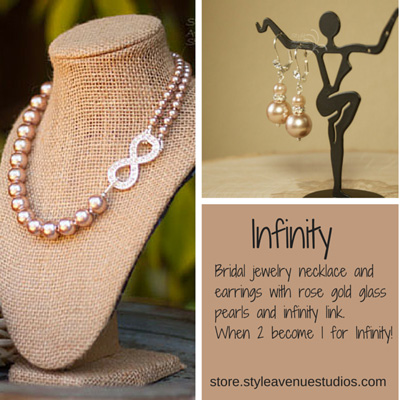 bridal pearl necklace infinity