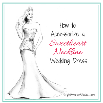 Accessorize Sweetheart Neckline Wedding Dress