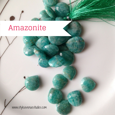 Blue green gemstone