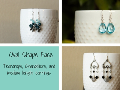 Oval Face shape Earrings