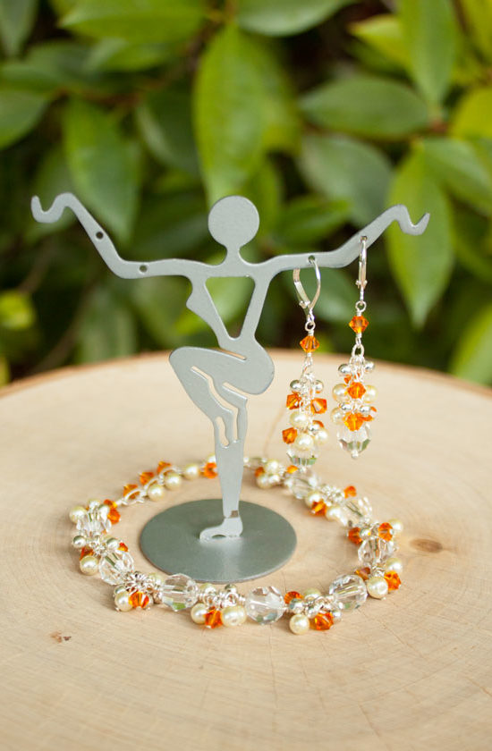 Orange bridesmaid Jewelry