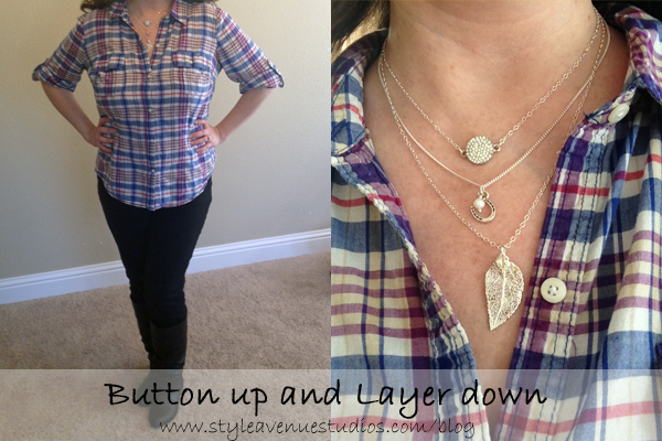 Layer Necklaces, Button up shirt