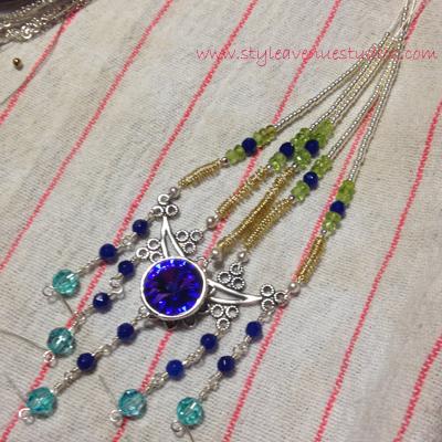 peacock necklace in progress