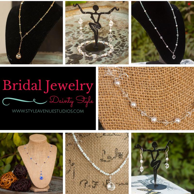 delicate, dainty, bridal jewelry, wedding jewelry
