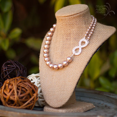 Bridal Infinity Pearl Necklace