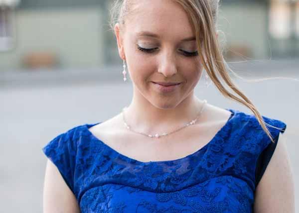 Blush Crystals Bridesmaid Jewelry