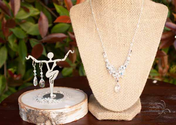 Clustered Bridal Jewelry Set