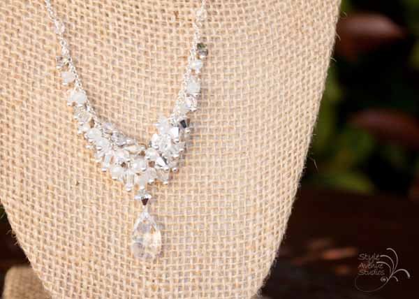 Handmade Bridal Jewelry Silver and Crystal