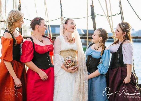 themed bridal jewelry