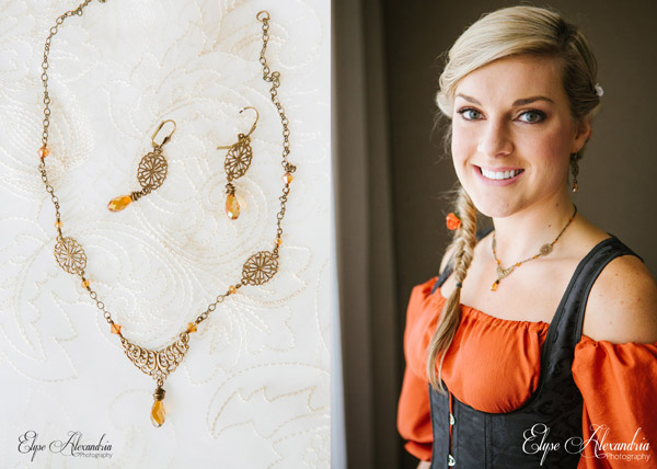 themed bridesmaid jewelry