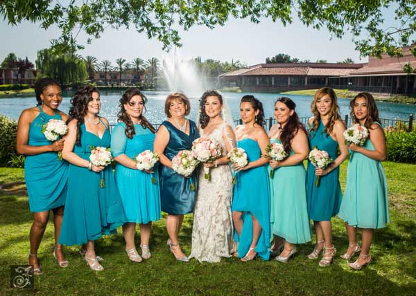 Teal Ombre Bridesmaid Jewelry