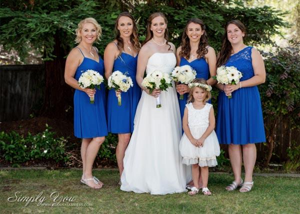 Blue Yellow Custom bridesmaid jewelry