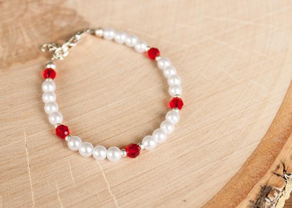 Custom Flower girl bracelet