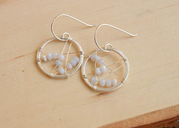 opal and silver earrings